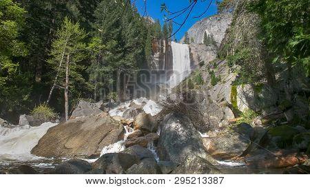 Vernal Falls In Yosemite National Park, Usa