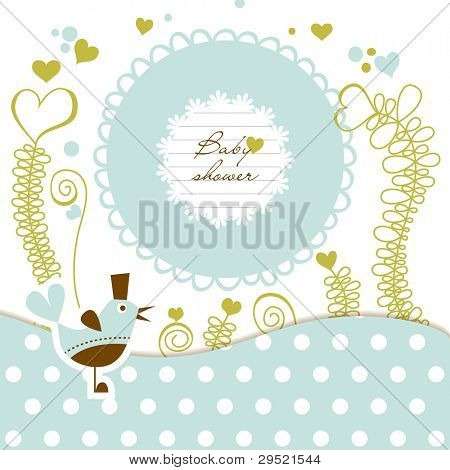 Cute baby shower vector illustration