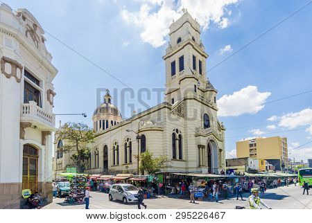 Guatemala City,guatemala - March 2,2019 - View At The Church Of Our Lady Of Remedios In Guatemala Ci