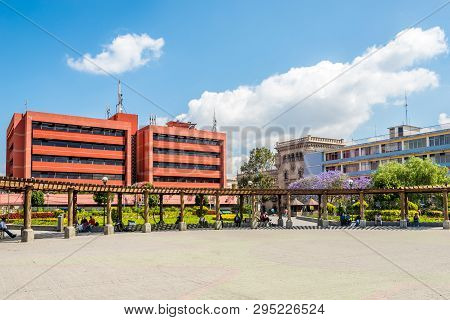 Guatemala City,guatemala - March 2,2019 - View At The Place Of Concordia In Guatemala City. Guatemal