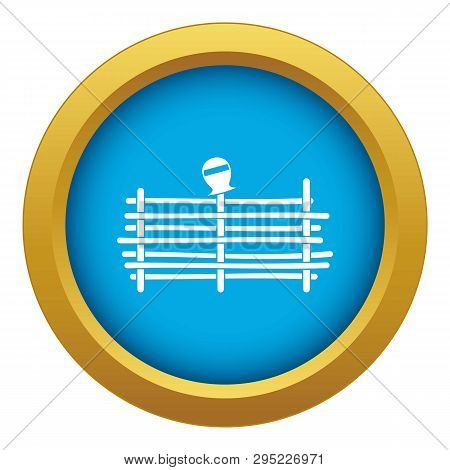Palisade Icon Blue Vector Isolated On White Background For Any Design