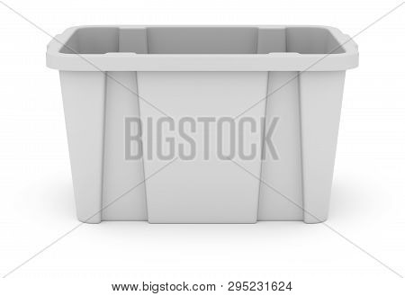 Clay Render Of Recycle Crate On White Background - 3d Illustration