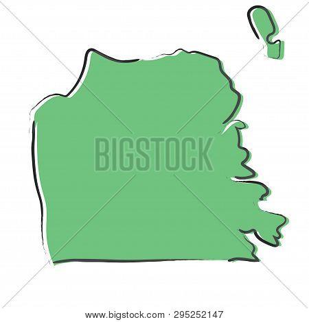 Sketch Green Map San Vector & Photo (Free Trial)   Bigstock