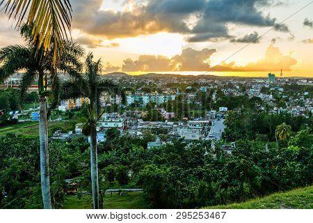 Cuban City Sunset Panorama With Palms It The Foreground, Santa Clara, Cuba8