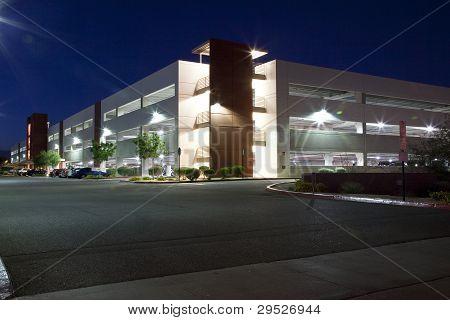 Parking Garage At Night