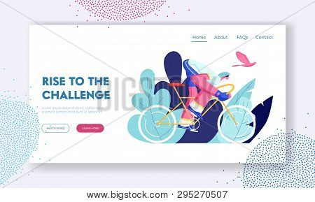 Cyclist Riding Bike Outdoors In Summer Day. Bicycle Man Active Sport Life And Healthy Lifestyle, Bik