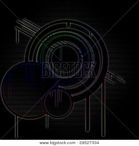 Rainbow Circle Background
