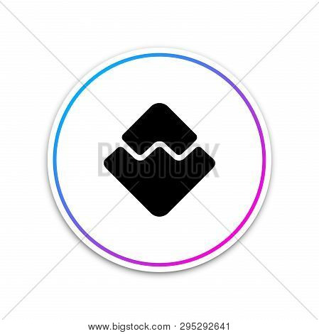 Cryptocurrency Coin Waves Icon Isolated On White Background. Physical Bit Coin. Digital Currency. Al