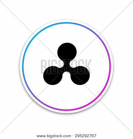 Cryptocurrency Coin Ripple Xrp Icon Isolated On White Background. Physical Bit Coin. Digital Currenc