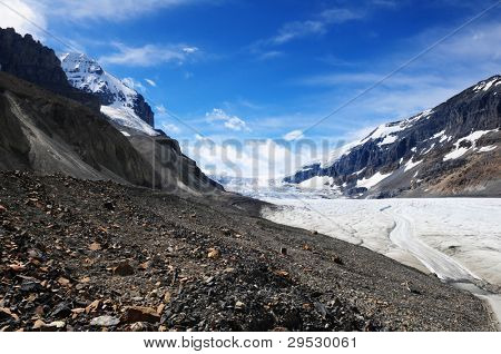 Athabasca glacier Columbia Icefields, Canada