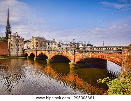 New Bridge, Built 1878, And The River Ayr In Ayr, South Ayrshire, Scotland