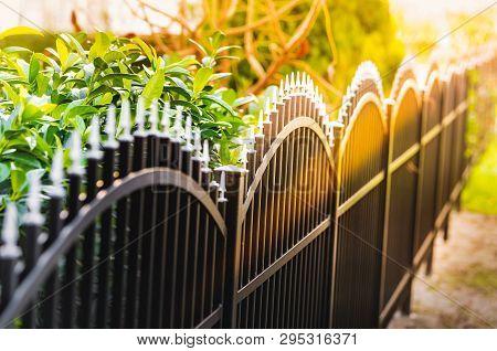 Black Iron Fence, A Black Metal Fence