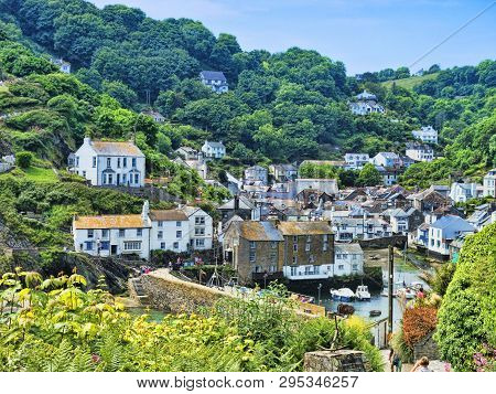 6 June 2018: Polperro, Cornwall, Uk - One Of The Most Beautiful Villages In Cornwall.