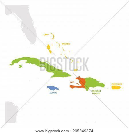 Caribbean Region. Map Vector & Photo (Free Trial) | Bigstock