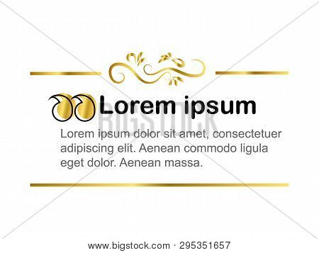 Vector Frame For Text. Form Design For Text. Block Text On The Site. Design Block With A Note. Frame