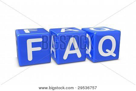 Blue Faq Boxes