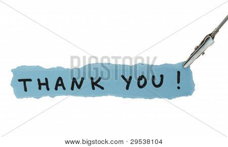 Frase Thank You On Paper