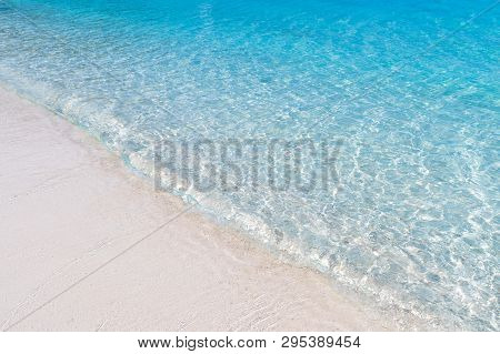 Beautiful Beach View Island Seascape At Trad Province Eastern Of Thailand  Blue Water Background Tex