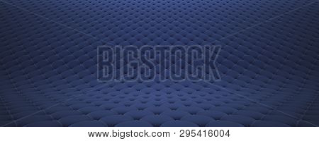 Quilted Fabric Surface. Festive Blue Corduroy. Option 2