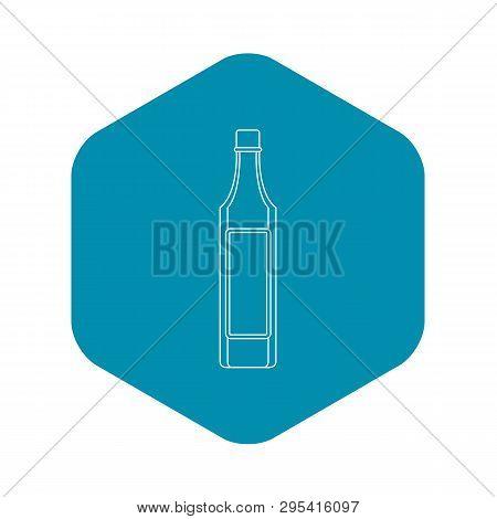 Vinegar Bottle Icon. Outline Illustration Of Vinegar Bottle Vector Icon For Web