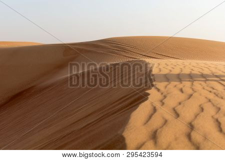 Huge Dunes Of The Desert. Fine Place For Photographers And Travelers.