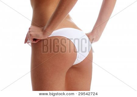 Close-up of women hips and lingerie