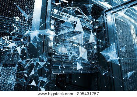 Cloud Computing Database Design With Plexus Overlay 3d Rendering
