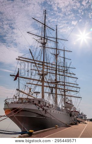 Historic Boat In The Port Of Gdynia, Poland