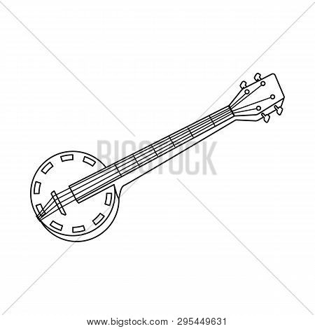 Isolated Object Of Banjo And Musical Logo. Set Of Banjo And Traditional Stock Symbol For Web.