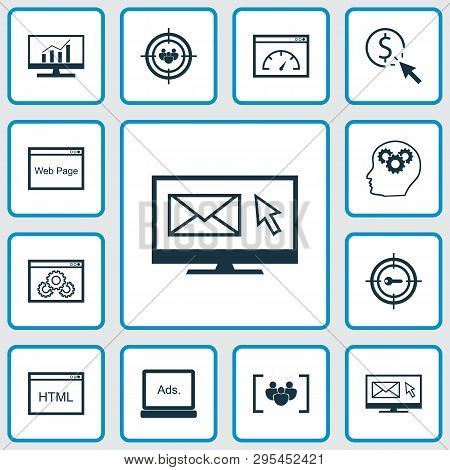 Seo Icons Set With Comprehensive Analytics, Website Optimization, Page Speed And Other Loading Speed