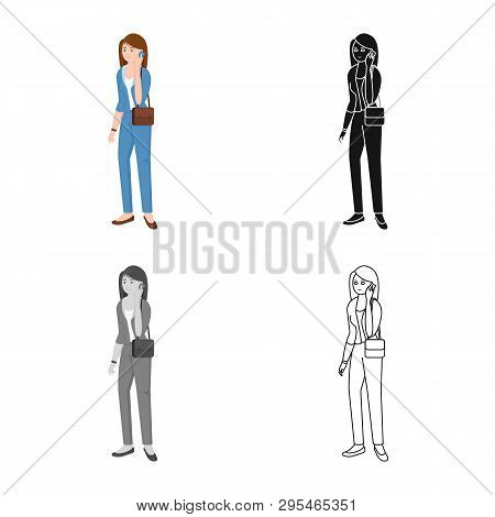 Vector Design Of Woman  And Business Icon. Set Of Woman  And Businessperson Stock Vector Illustratio