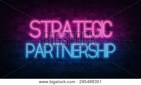 Strategic Partnership, Great Design For Any Purposes. Partnership Cooperation Concept. Innovation, S