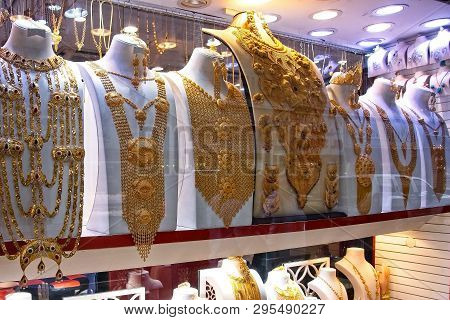 A Shot From Gold Souk Dubai , Famous Gold Market, Place To Visit In Dubai, Tourist Attraction, Jewel