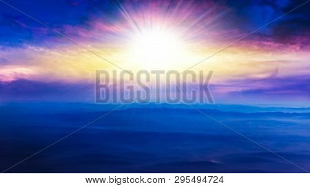 Light About The Sky . Paradise Heaven . Dramatic Nature Background . Beautiful Cloud . Way To Heaven