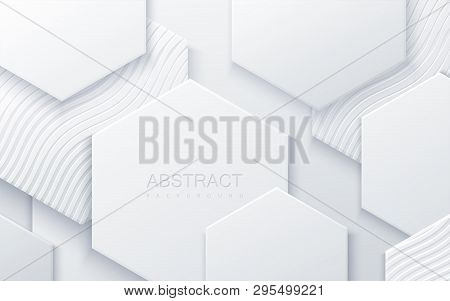 Abstract Hexagonal Background. Futuristic Technology Concept. 3d Vector Illustration. Hex Geometry P