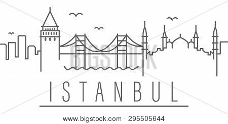 Istanbul City Outline Icon. Elements Of Cities And Countries Illustration Icon. Signs And Symbols Ca