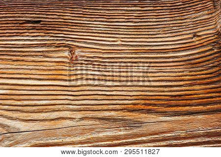 Texture of wood surface with old natural pattern. Wood background close up. Top view sample board for parquet production. Abstract template with copy space. Timber construction material.