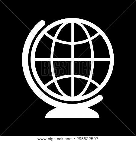 Globe Icon Isolated On Black Background, Globe Icon Eps10, Globe Icon Vector, Globe Icon Eps, Globe