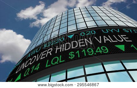 Uncover Hidden Value Find Great Deal Wall Street Stock Market 3d Illustration