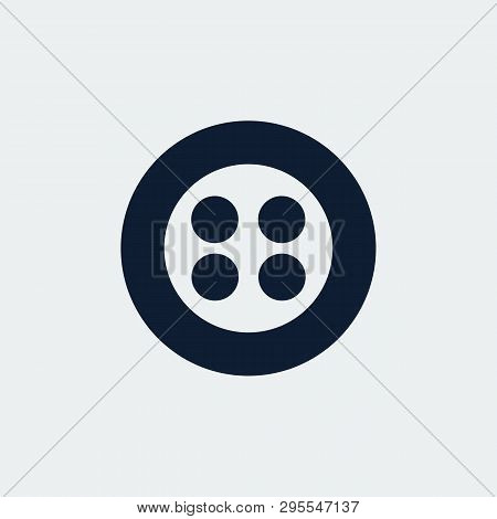 Button Icon. Element Of Tailor,clothier.signs And Symbols Collection Icon For Websites.vector
