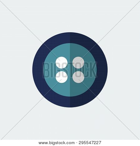 Button Flat Icon. Element Of Tailor, Clothier.signs And Symbols Collection Icon For Websites.vector