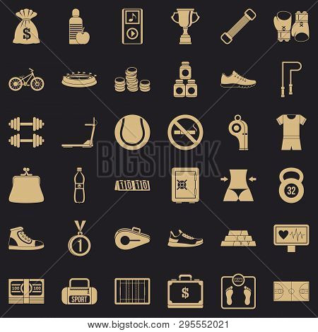 Basketball score icons set. Simple style of 36 basketball score icons for web for any design poster