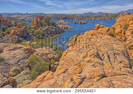 View Of Watson Lake From The Treehouse Trail On The East Side Of The Lake. Located In Prescott Az.