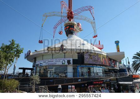 Eilat, Israel - March 03, 2019: Shopping And Entertainment Center On The Waterfront In The Resort To