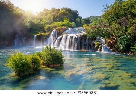 Krka Waterfalls On The Krka River, Croatia.