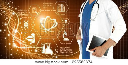 Doctor With Medical Healthcare Research Concept