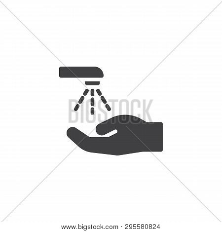 Wash Your Hands Vector Icon. Mandatory Sign Filled Flat Sign For Mobile Concept And Web Design. Hand
