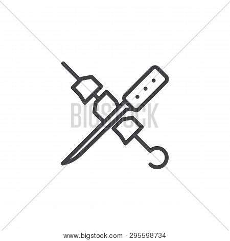 Shish Kebab Knife Vector Photo Free Trial Bigstock