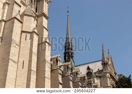 The Notre Dame Cathedral In Paris, France 2015