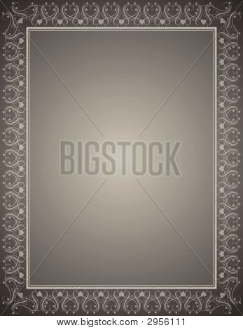 Grey Certificate Background, Vector